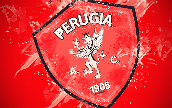 Download wallpapers AC Perugia Calcio, 4k, paint art ...