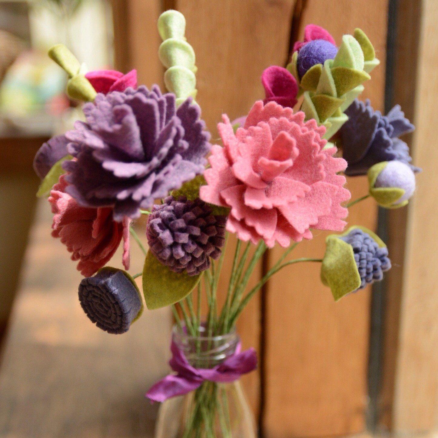 Craft kit diy felt peony flower bouquet filts pinterest peony craft kit diy felt peony flower bouquet izmirmasajfo