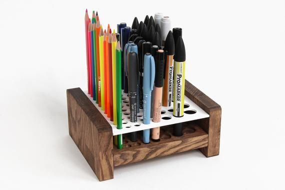 Wood Pencil Holder Pen Holder Pencil Storage Wooden Pen Holder