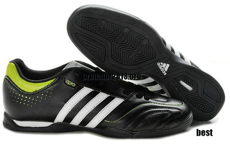 30b652185 Adidas AdiPure V 11Pro IC Indoor Soccer Shoes Black White  52.59 ...