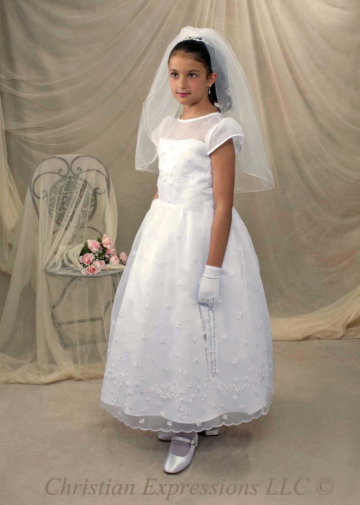 Irish Shamrock First Communion Dress