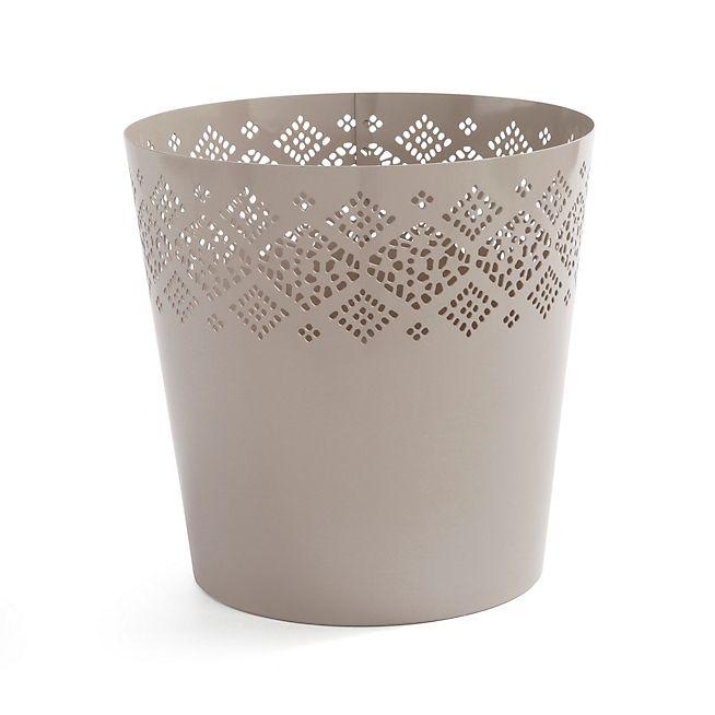 Clio Poubelle Corbeille A Papier Taupe En Metal Trash Can Small Trash Can Planter Pots