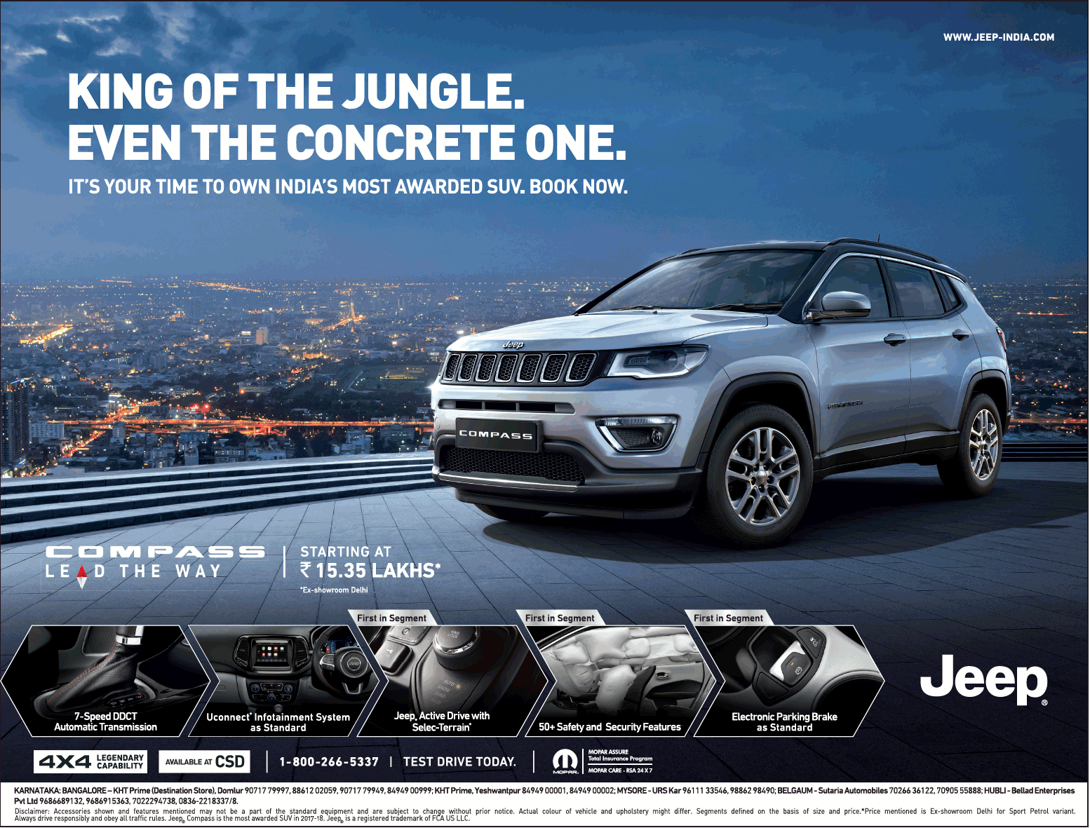 Compass Jeep Car King Of The Jungle Even The Concrete One Ad Times