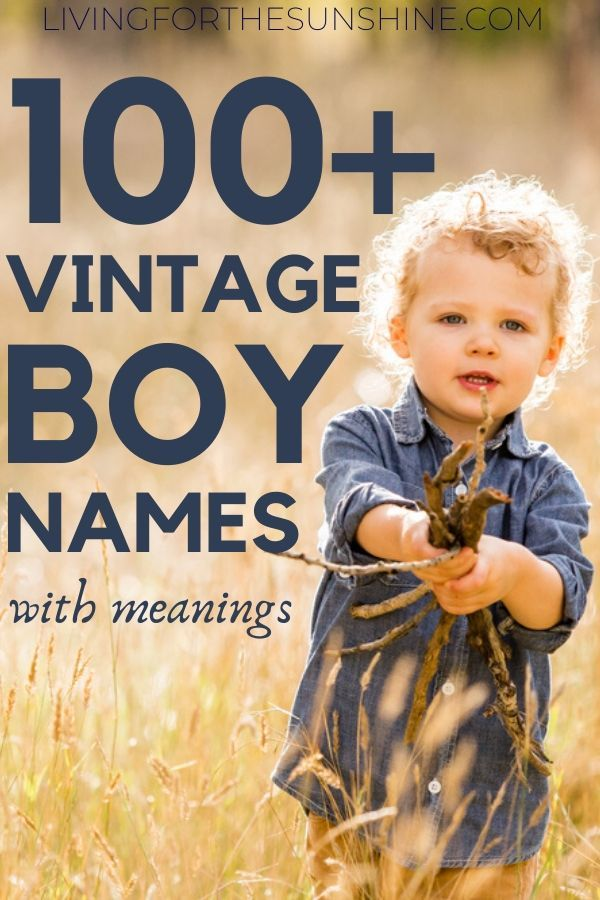 Old Fashioned Boy Names from the 1800's