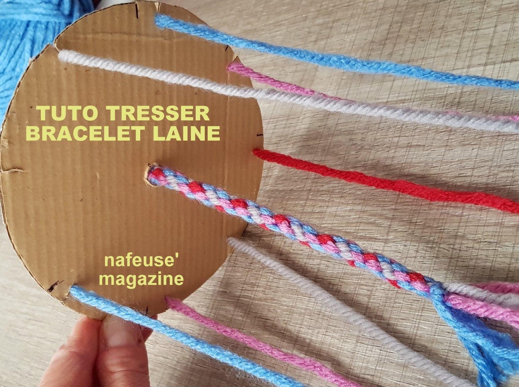 design de qualité 482f9 8fafb TUTO tresser un bracelet en laine   TUTORIELS - DIY ...
