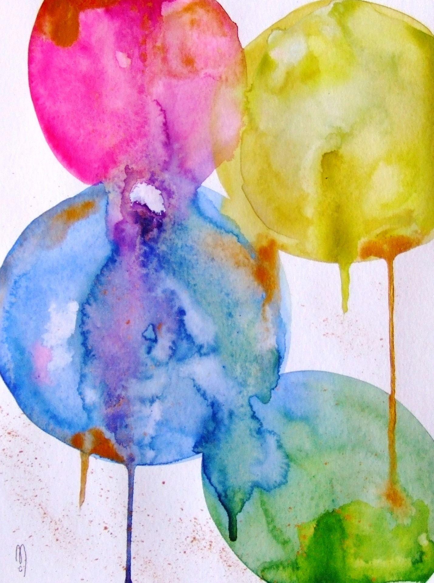 Peinture Originale Art Abstrait Aquarelle Encre D Cor Art Pinterest Watercolor