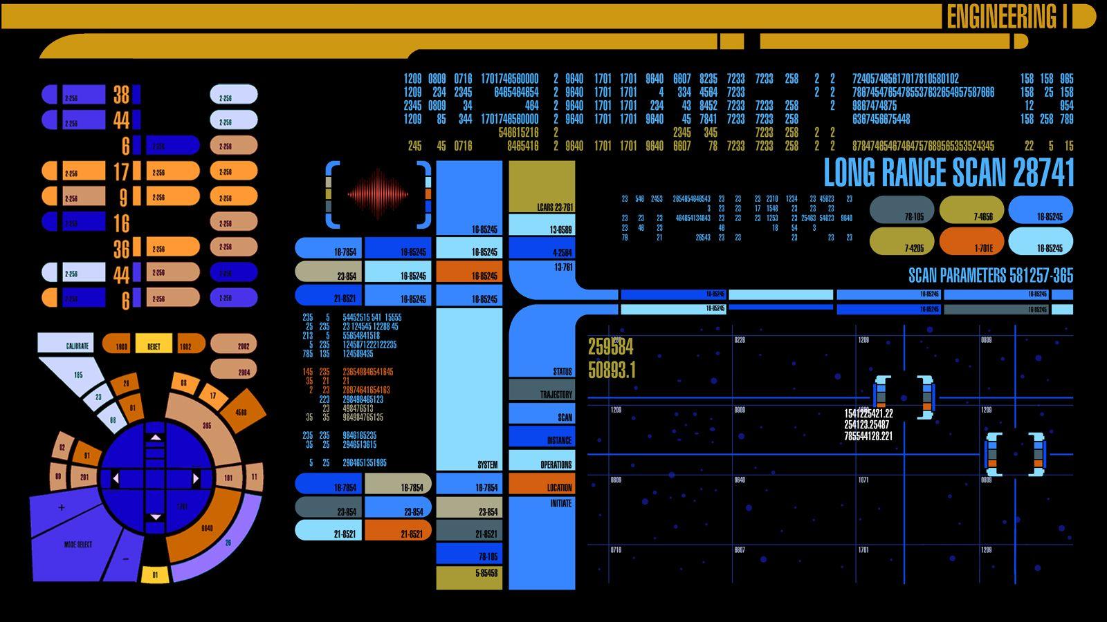 Star Trek computer wallpaper Star trek wallpaper, Star