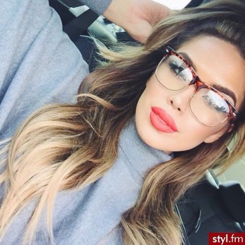 Rimless Glasses Makeup : Classical temperament, Clubmaster Wayfarer Vintage Retro ...