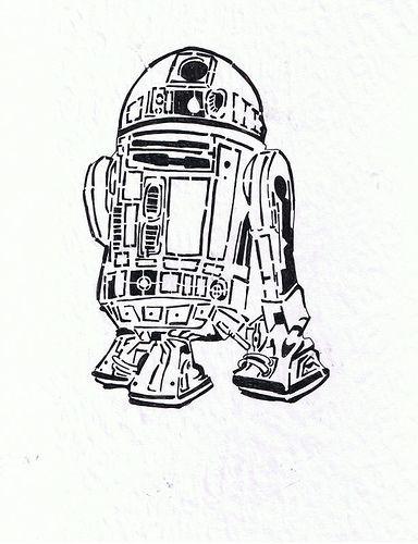 r2d2 stencil prototype by gratefulimnotdead  via flickr