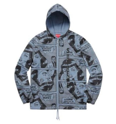 6e3371fc080c Supreme Replica Thrasher Boyfriend Hooded Zip Up Jacket Comic - WearStars
