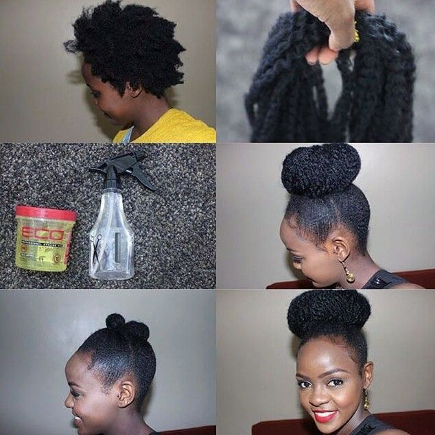 Faux Marley Bun Gorgeous 4c Natural Hair Pinterest Marley Bun