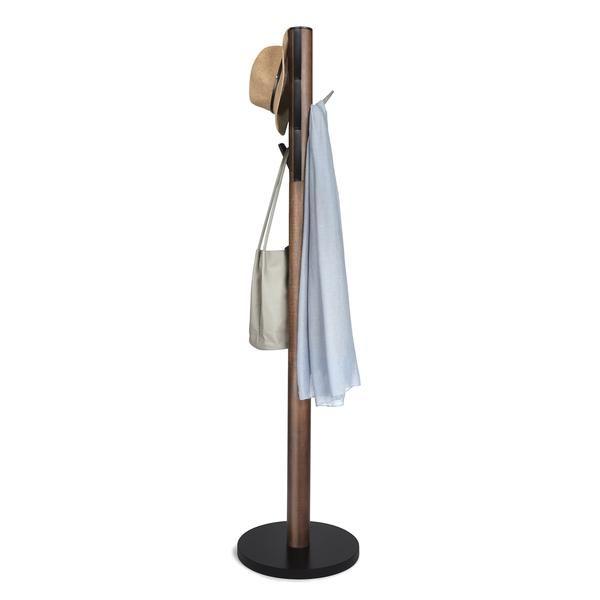 Flapper Coat Rack Walnut Black Wooden Coat Rack Coat
