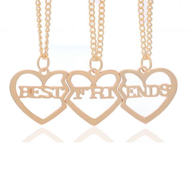1 Conjunto 3 Pcs Luz Dourada Curta Frase Inglês Namorada Melhor