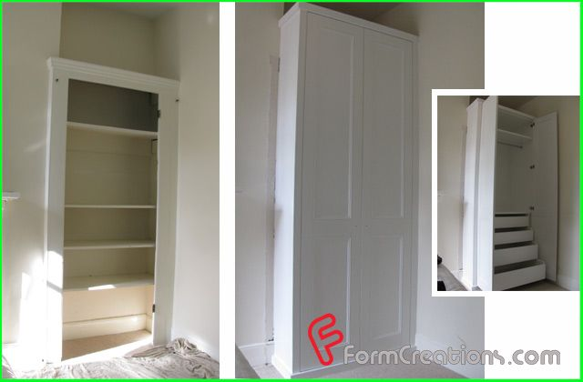 competitive price 0fb92 bb2c7 DIY alcove fitted wardrobe | DIY Home | Built in wardrobe ...