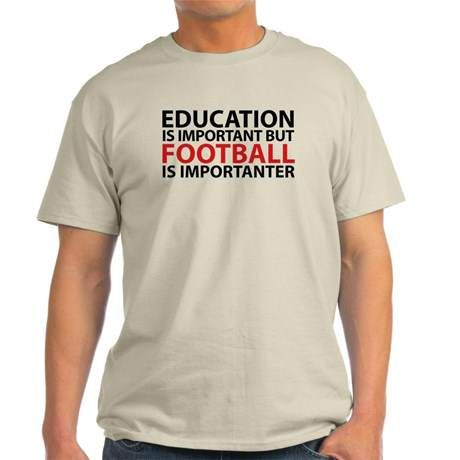 A really cool Football is Importanter T-Shirt. Purchase it here http://www.albanyretro.com/football-is-importanter-t-shirt/