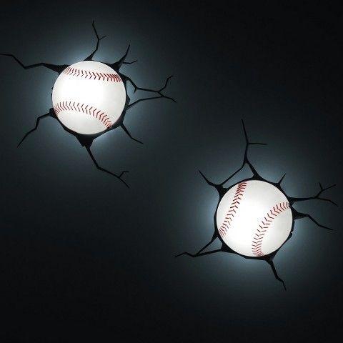 Sports 3d wall nightlight baseball aloadofball Image collections