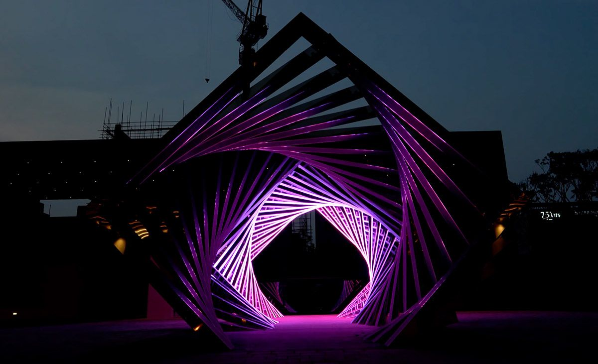 Accumulation: Dramatic LED Light Tunnel by Yang Minha | Korean ... for Led Light Installation Art  70ref