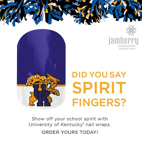 Licensed Nail Wraps for you to show your spirit!  University of Kentucky.   #basketball #marchmadness #football