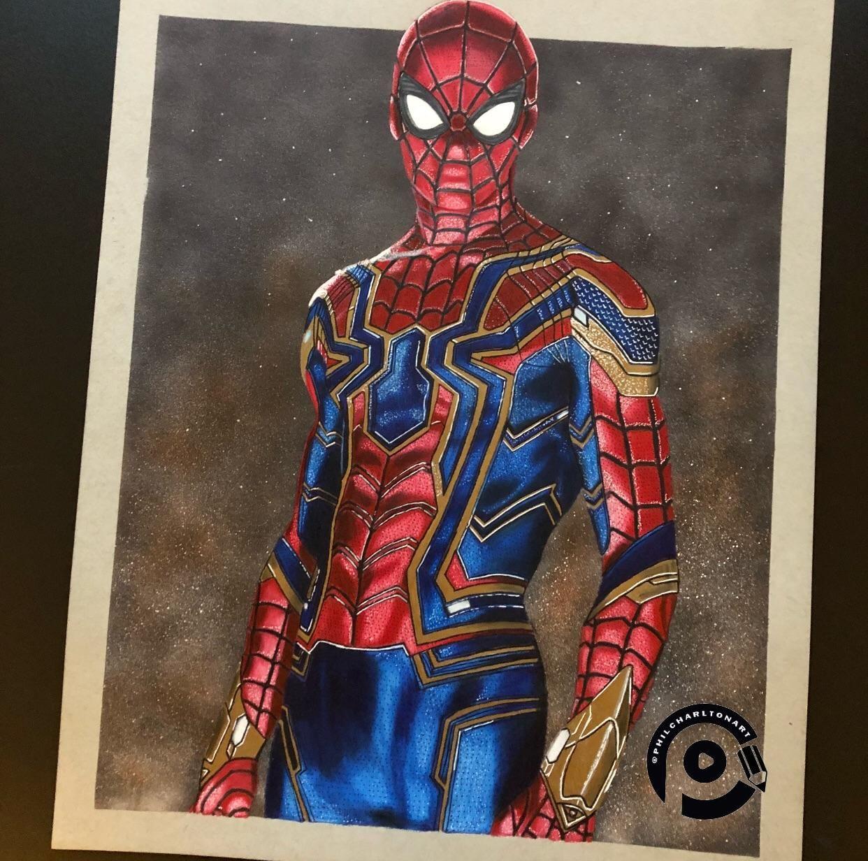 My Spiderman Drawing Enjoyed Doing This One Prisma Colour Pencils On Strathmore Art Paper Zeichnungen Zeichnen Malen