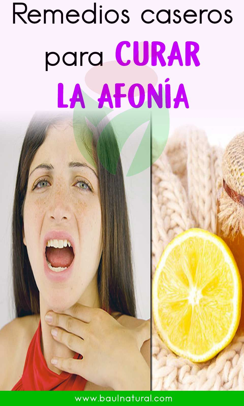 Como Curar La Afonia la afonía | remedios, remedios caseros, casero