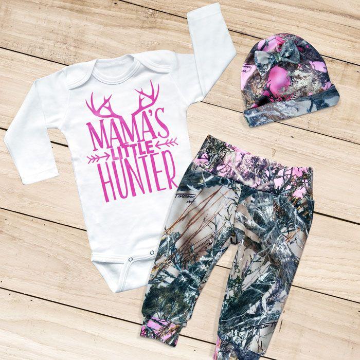 MAMA'S LITTLE HUNTER 3piece Camo Set Baby girl camo