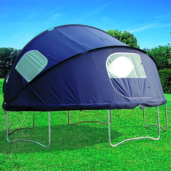 Trampoline tent. Camp without leaving home. (Stay in your