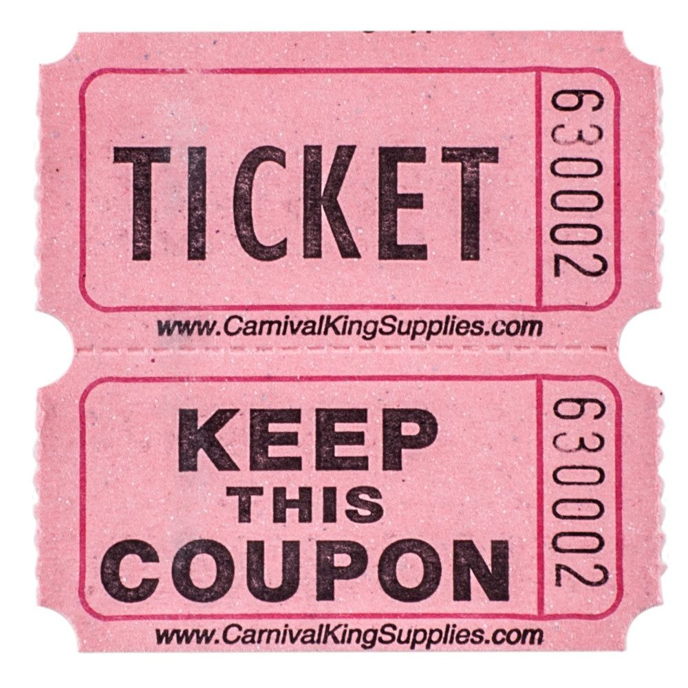 Carnival King Pink 2 Part Raffle Tickets 2000 Roll In 2021 Raffle Tickets Raffle Tickets Printable Raffle Ticket Two part raffle tickets template