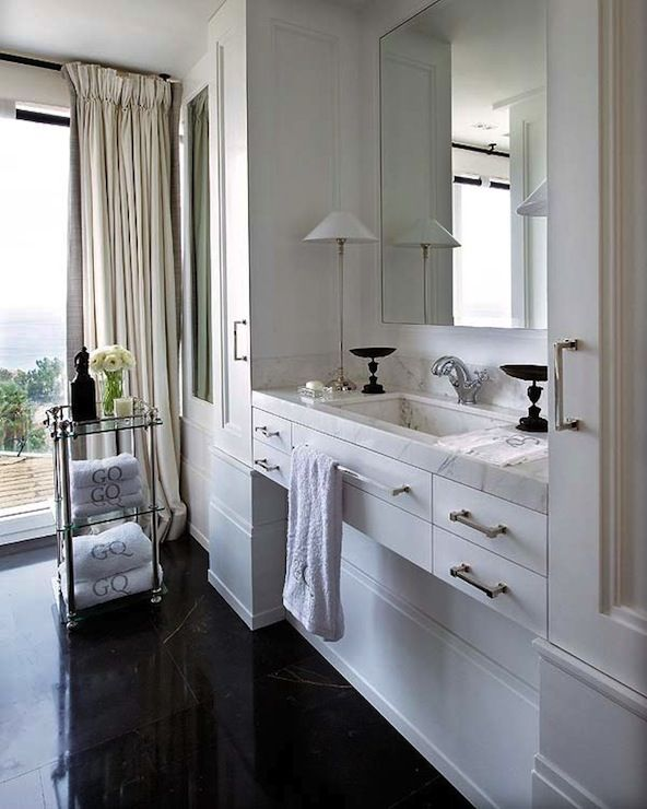 Bathroom BATHROOMS Pinterest Black marble tile, Marble tile