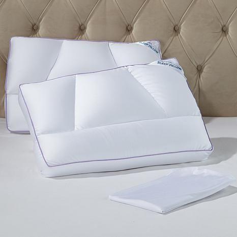 Tony Little Destress Micropedic Pillow 2 Pack With 2 Pillowcases 10071084 Hsn Pillow Cases Pillows Hypoallergenic Pillows