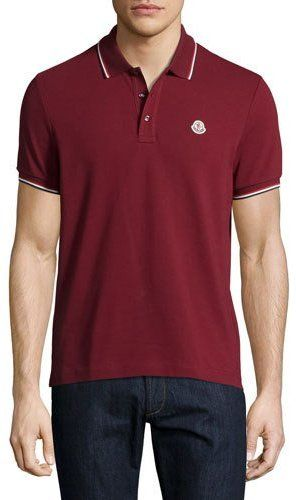 moncler red polo mens