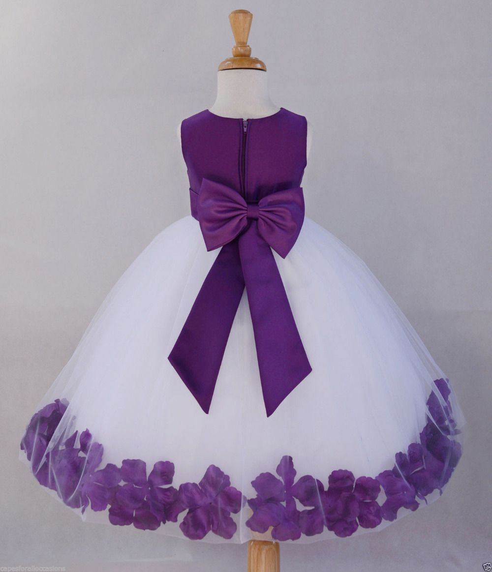dark purple flower girl dresses d--h.info 2016 | Flower Girl ...