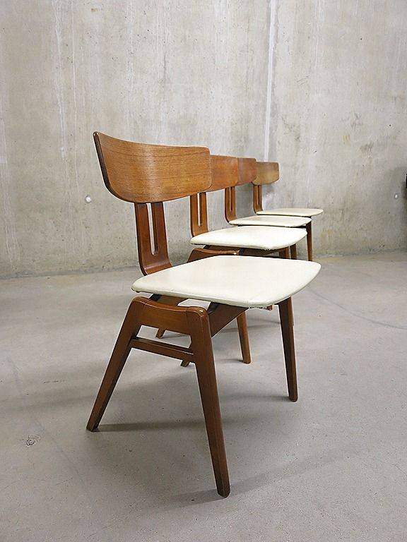 Pastoe vintage eetkamer stoelen dinner chairs easy chairs Cees ...