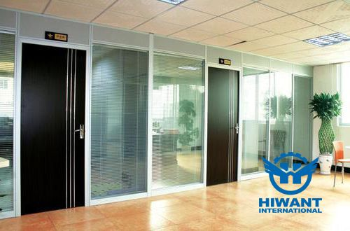 Anodizing aluminium profile for modern high aluminium-glass partitions.