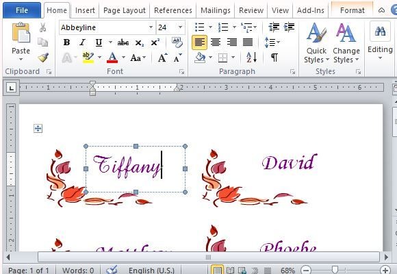 Thanksgiving Place Cards Maker Template For Word  Excel Templates