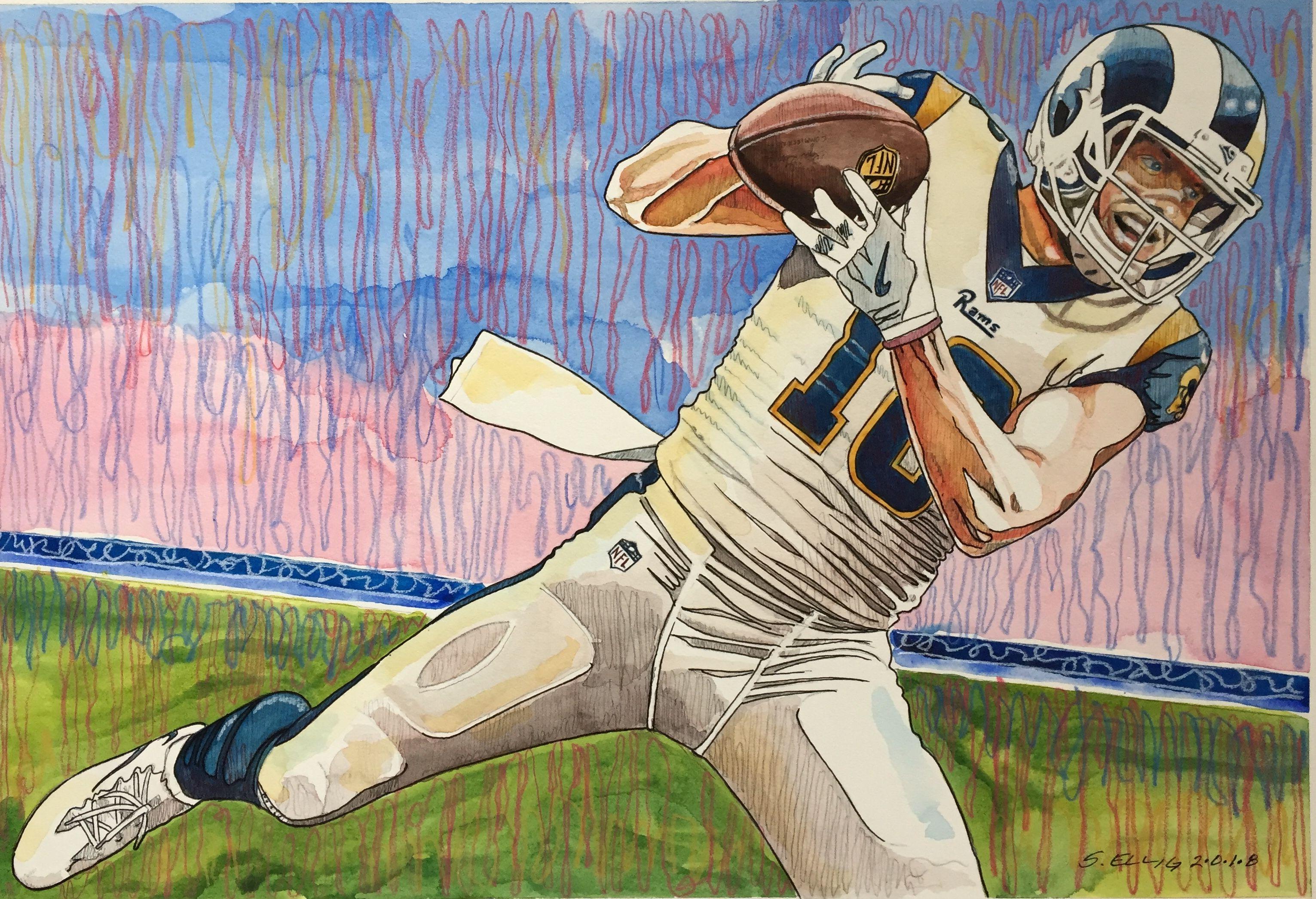 Cooper Kupp La Rams Mixed Media By Scott Ellig My Arts Character Art