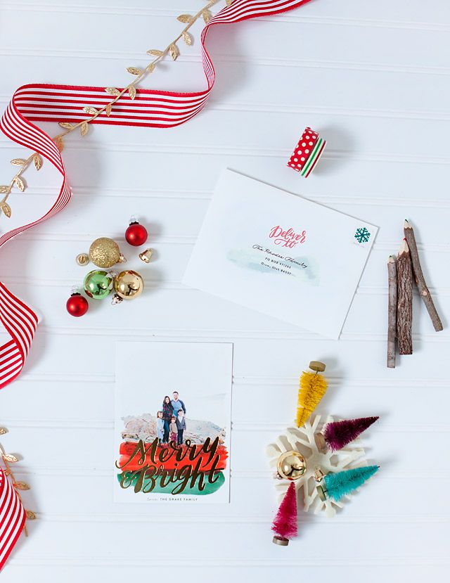 Holidays are made easier with free recipient addressing with your holiday greeting card purchase.  Image courtesy of @armelleblog