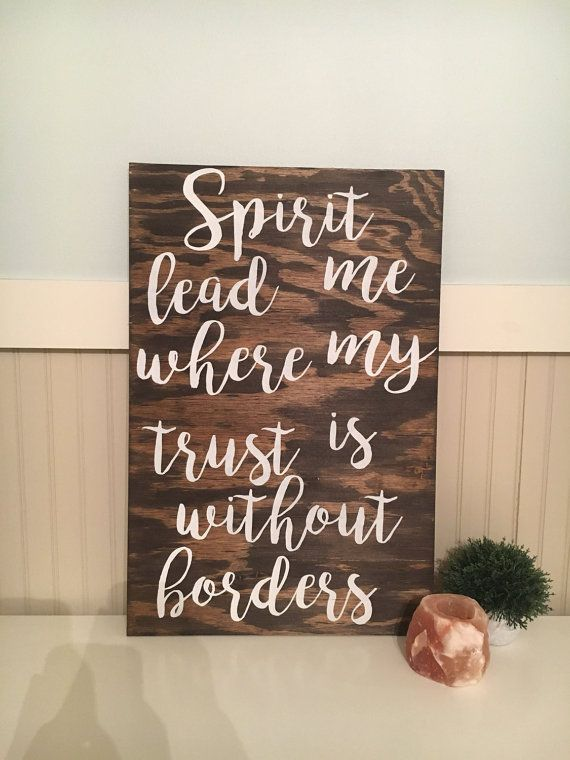 Spirit Lead Me Verse Wood Sign by ShopKmichelle on Etsy
