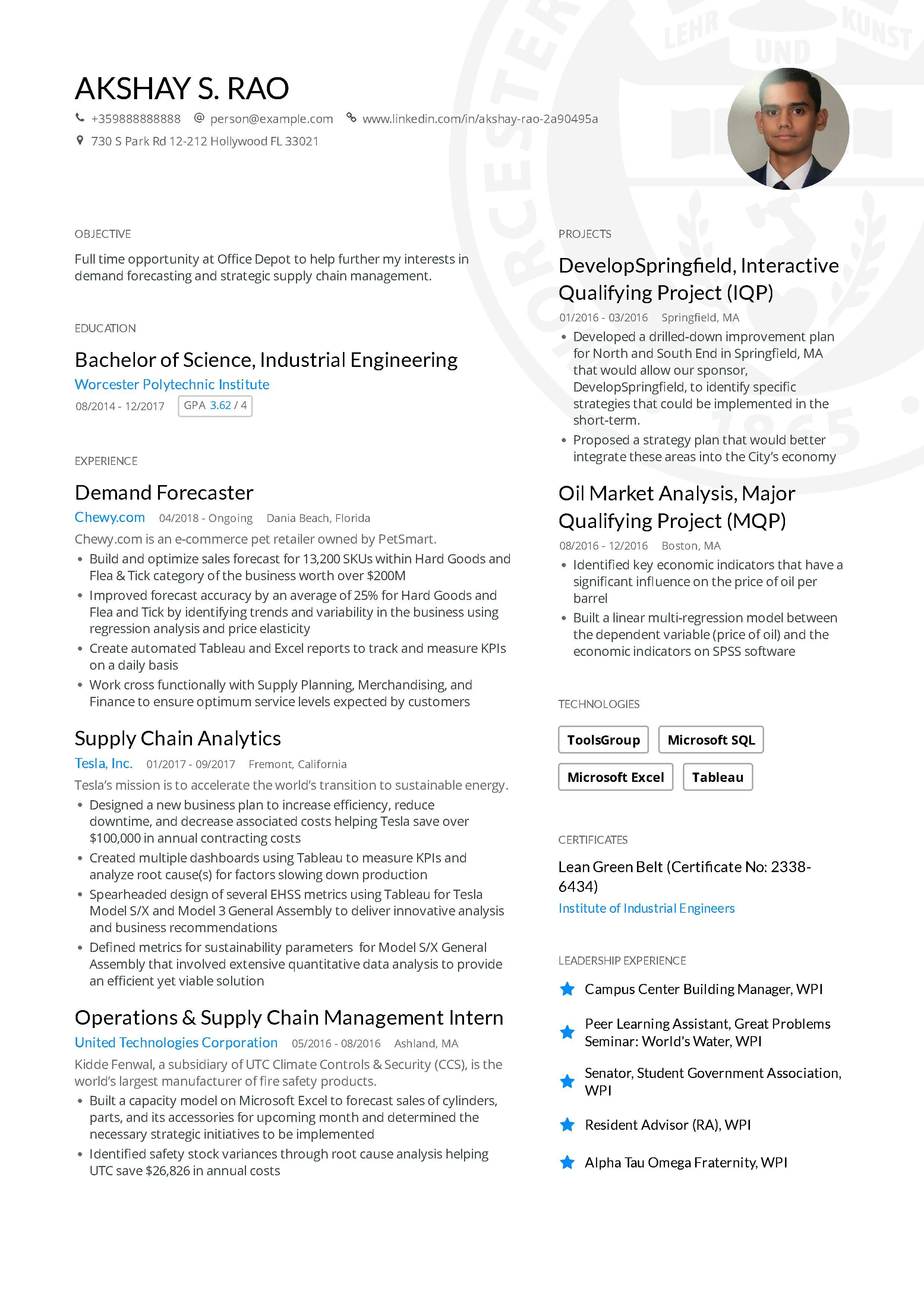 Engineering Resume Examples And Skills You Need To Get Hired With