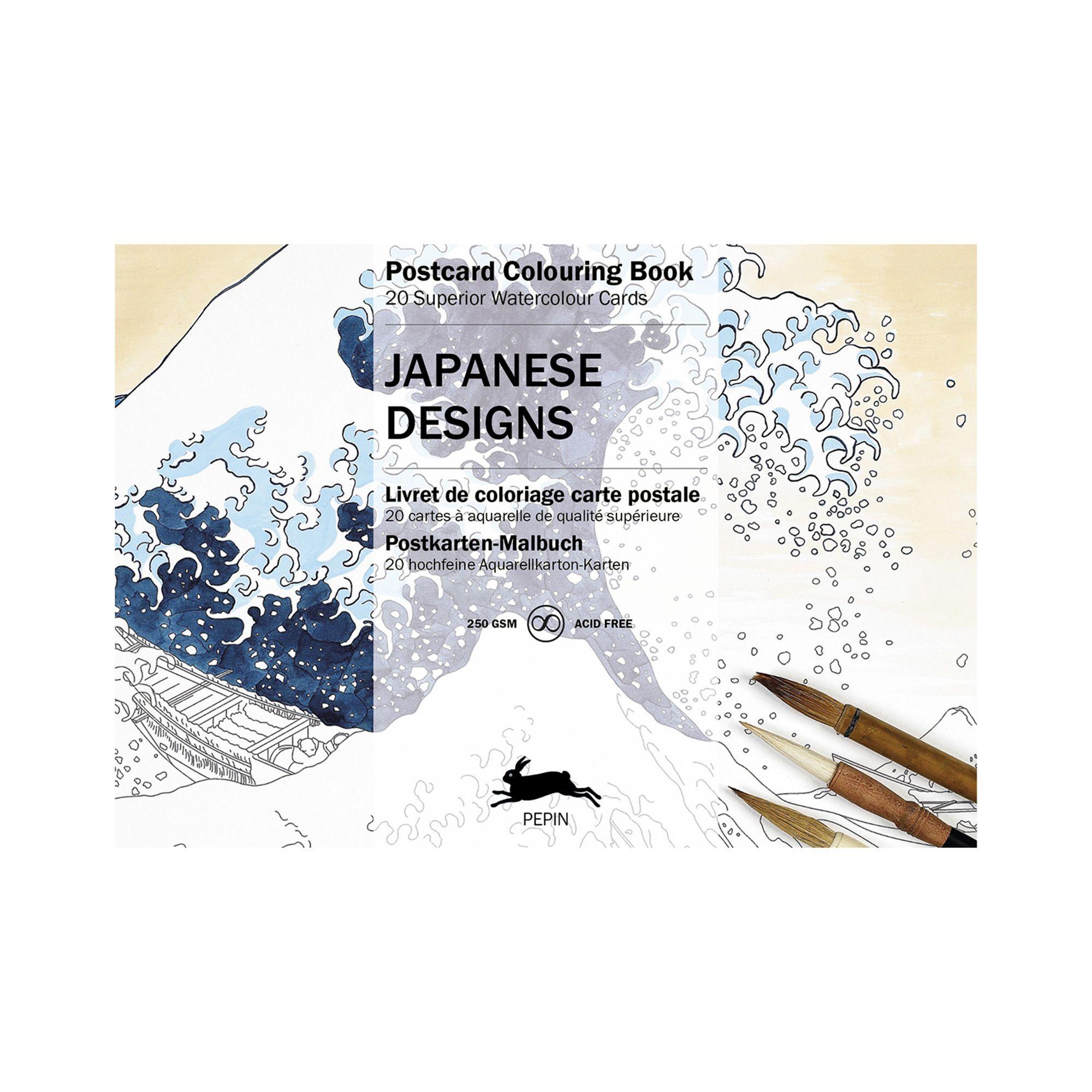 Postcard Colouring Book Japanese Designs Coloring Books Japanese Design Japanese Watercolor