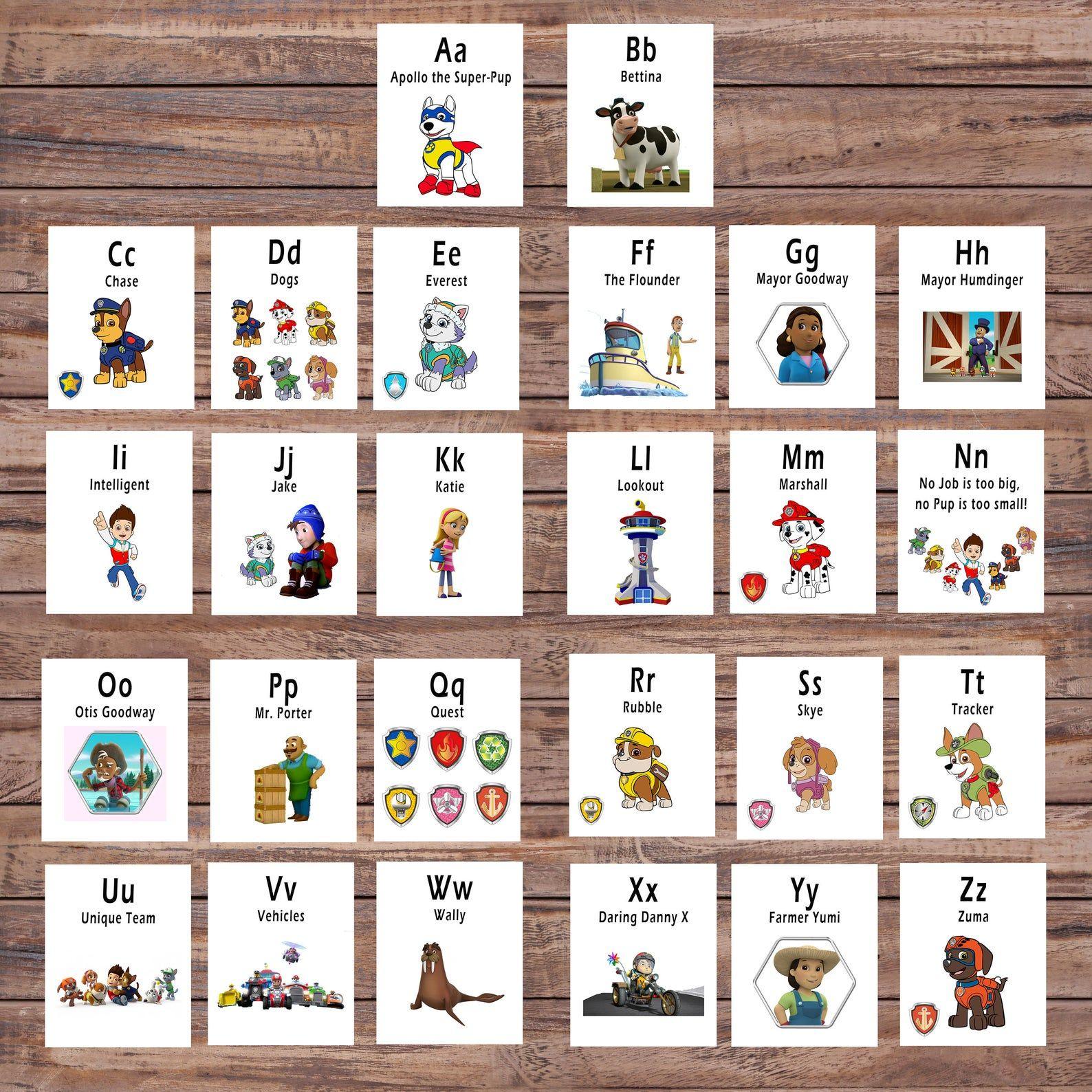 Paw Patrol Abc Printable Flash Card Printable Cards Etsy Printable Flash Cards Abc Printables Alphabet Cards [ 1588 x 1588 Pixel ]