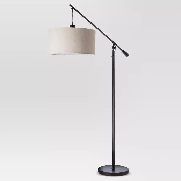 Cantilever Drop Pendant Floor Lamp Antique Brown Threshold Floor Lamps Living Room Black Floor Lamp Floor Lamp