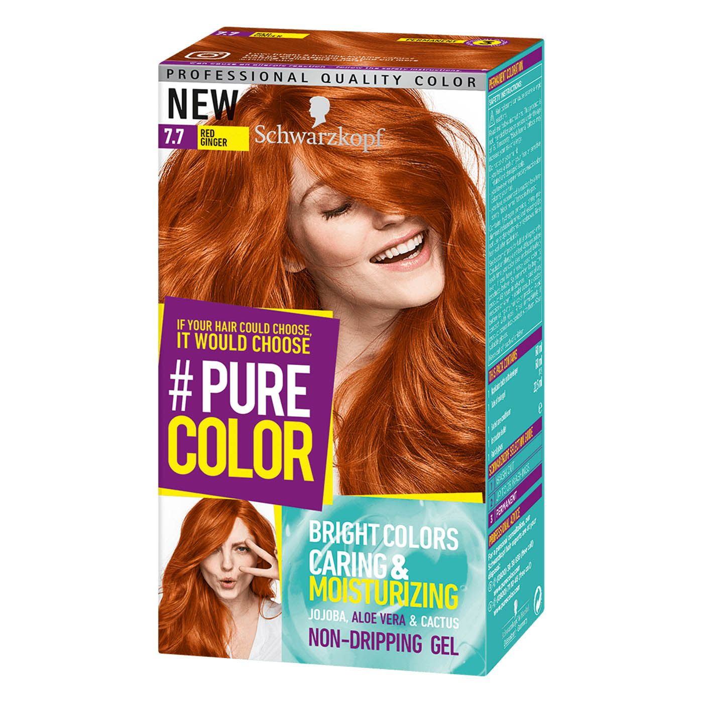 Schwarzkopf Pure Color 7 7 Red Ginger Permanent Gel Coloration