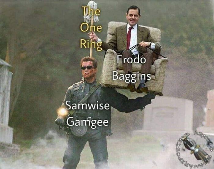Sam is the true hero of LOTR, not Frodo, change my mind. - Meme