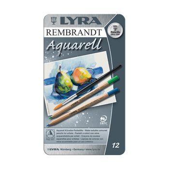 Lyra Rembrandt Aquarelle Watercolour Pencil Tin 12 Assorted