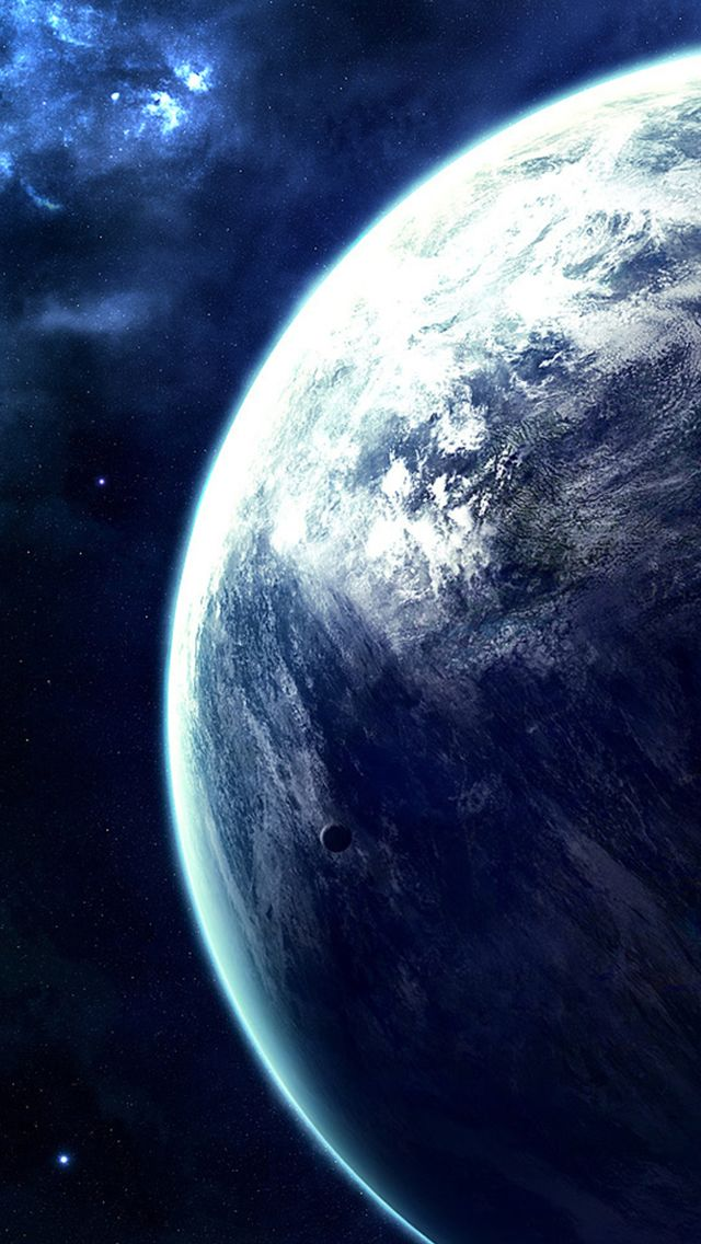 Spectacular Outer Space View iPhone 5s wallpaper