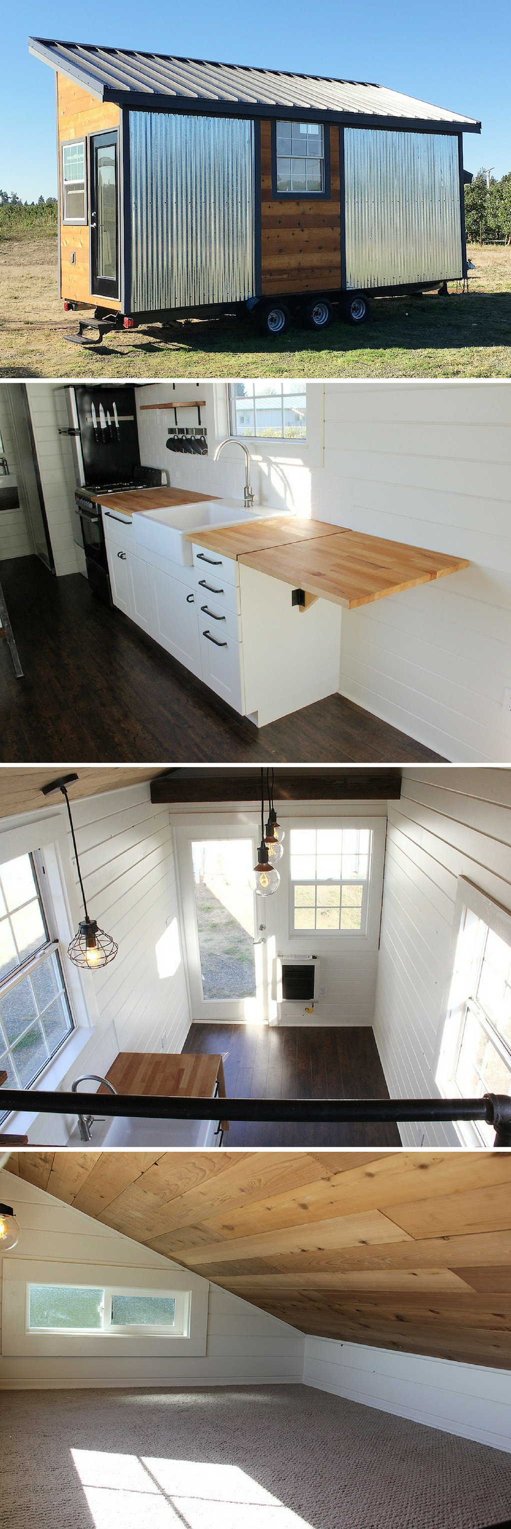 Rustic modern tiny house available for sale in Bellingham WA