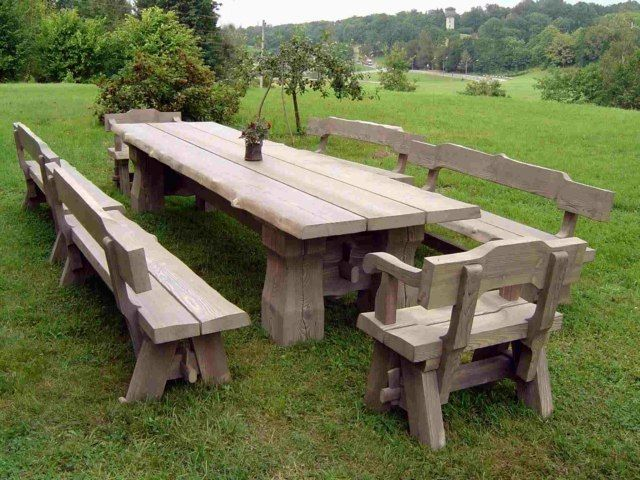 Table de jardin en bois : le choix respectueux | Picnic tables and ...