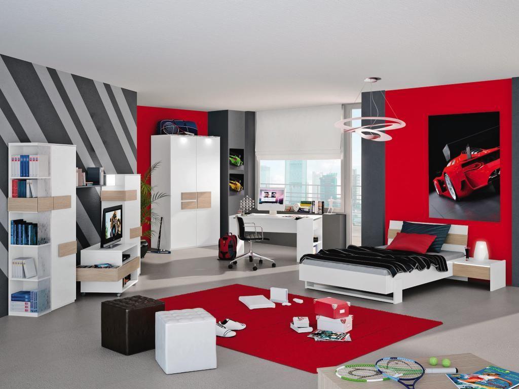 Schön Jungen Jugendzimmer Das Beste Von Von Jungen, Farbgestaltung, Jugendliche, Bett, E, Anthrazit,