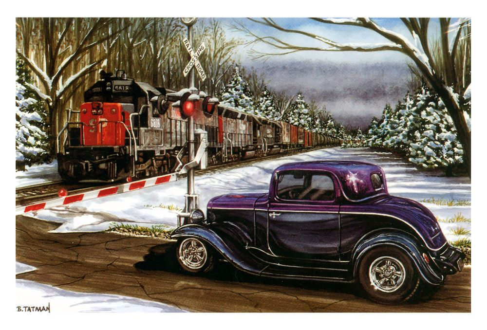 Hot Rods Christmas Cards - X-728 - One (1) Pack of 10 Cards ...