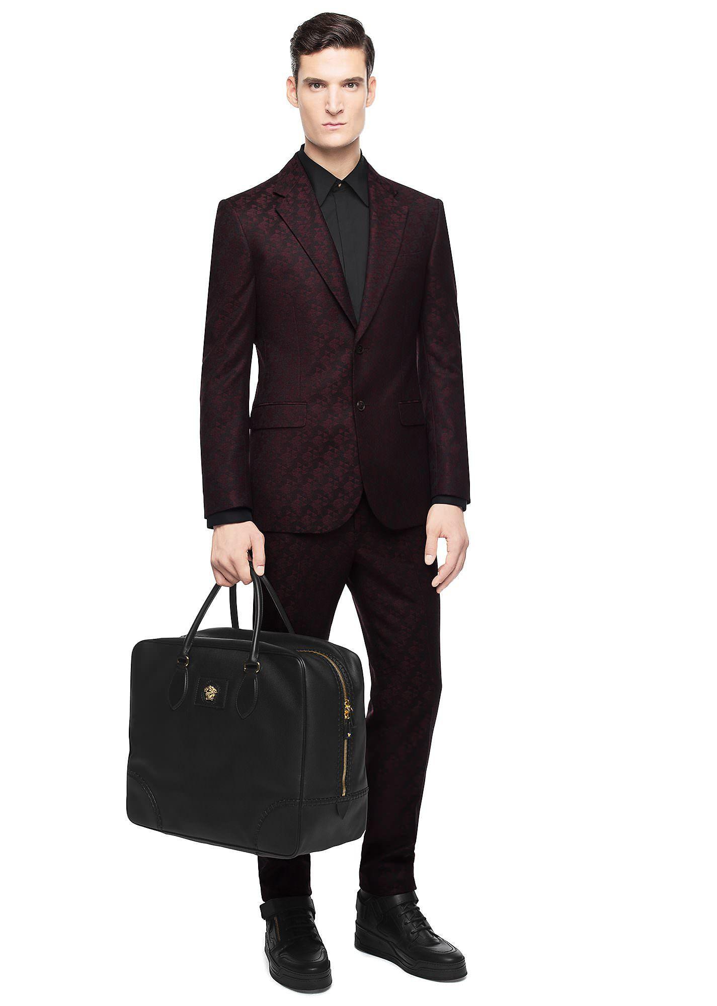 Versace Diamond Patterned Jaquard Suit | Luxury mens ...